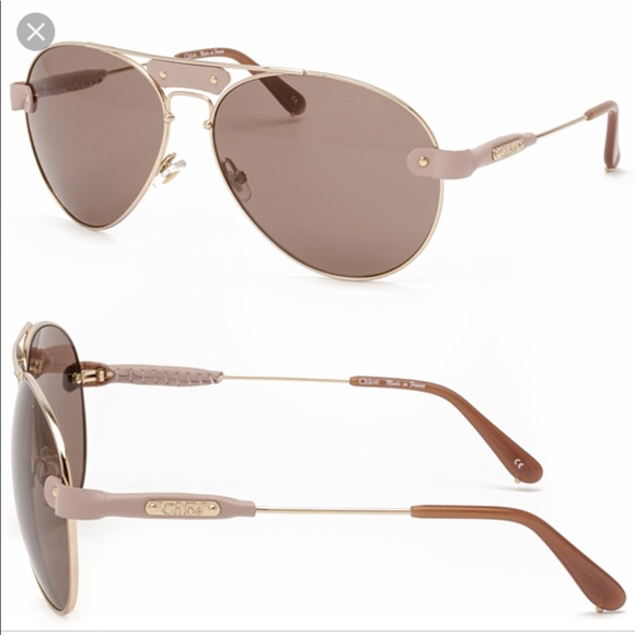 9204cca95304 Chloe Accessories - Oversized CHLOE Tamaris Aviator Sunglasses
